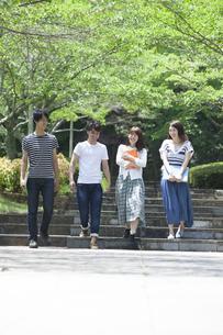 仲良し大学生の写真素材 [FYI04255807]