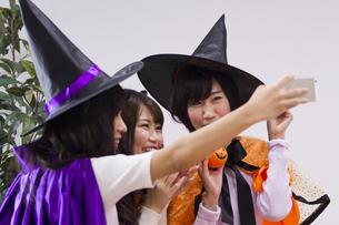 ハロウィンパーティーをする女性たちの写真素材 [FYI04260484]
