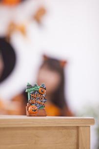 ハロウィンパーティーのオブジェの写真素材 [FYI04260626]