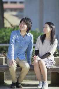 公園で散歩するカップルの写真素材 [FYI04263069]