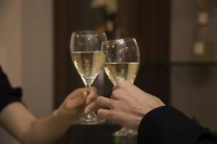 ディナーを楽しむカップルの写真素材 [FYI04263335]