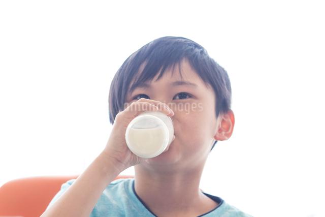 給食を食べる小学生の写真素材 [FYI04264074]
