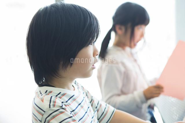 音楽の授業を受ける小学生の写真素材 [FYI04264143]