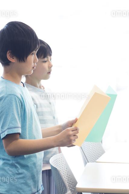 音楽の授業を受ける小学生の写真素材 [FYI04264146]