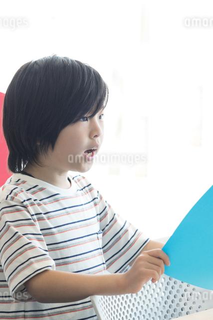 音楽の授業を受ける小学生の写真素材 [FYI04264156]