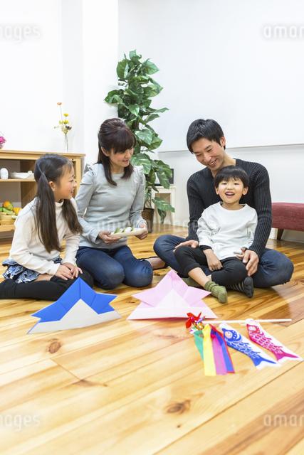 子供の日の家族の写真素材 [FYI04266492]