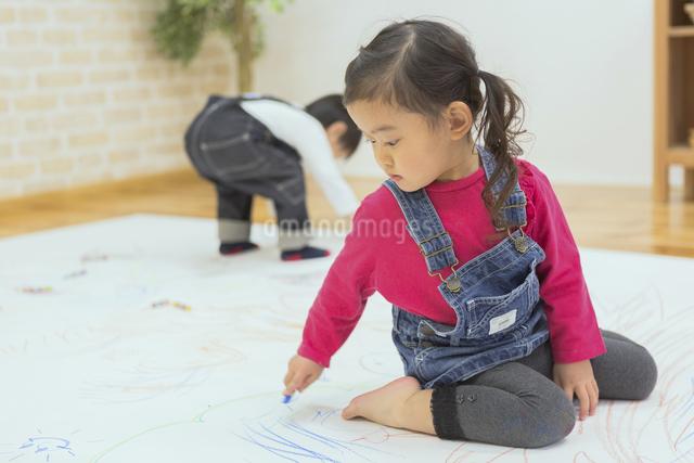 お絵描きする子供たちの写真素材 [FYI04266646]