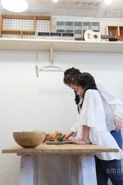 調理をする母娘の写真素材 [FYI04268093]