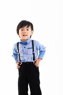 男の子のポートレートの写真素材 [FYI04268945]