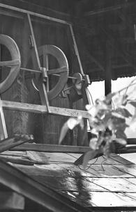日本、山梨県、北都留郡丹波山村、保之瀬、奥多摩、丹波山村、山村、民家、山間、昭和、昭和47年7月、昭和の写真素材 [FYI04270242]