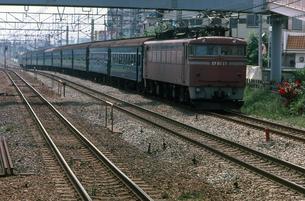 常磐線 EF80電気機関車牽引普通列車の写真素材 [FYI04270270]