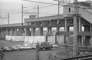 開業した武蔵野線 新松戸駅前ロータリーの写真素材 [FYI04270380]