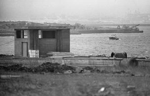 東京湾・大井埠頭の写真素材 [FYI04270402]