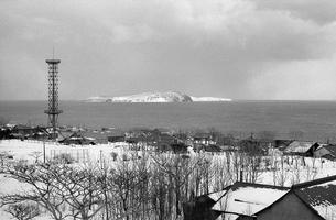 天売島より焼尻島を望むの写真素材 [FYI04270515]