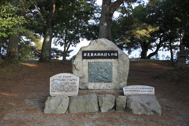 岩見重太郎の碑の写真素材 [FYI04270781]