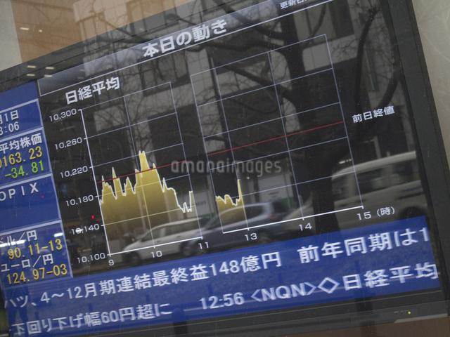 街頭の株式表示板の写真素材 [FYI04271061]