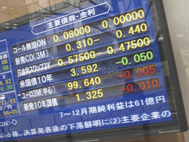街頭の株式表示板の写真素材 [FYI04271069]