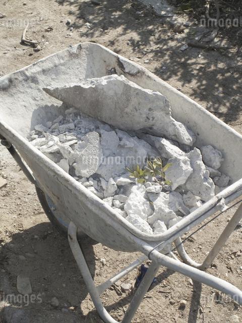 工事現場の運搬用一輪車の写真素材 [FYI04271113]