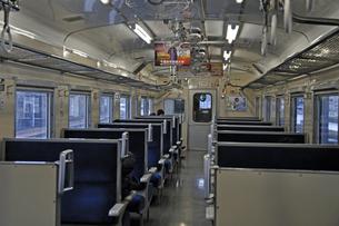 鉄道 JR北海道 江差線・函館駅にて キハ40車内の写真素材 [FYI04272089]