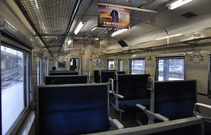 鉄道 JR北海道 江差線・函館駅にて キハ40車内の写真素材 [FYI04272090]