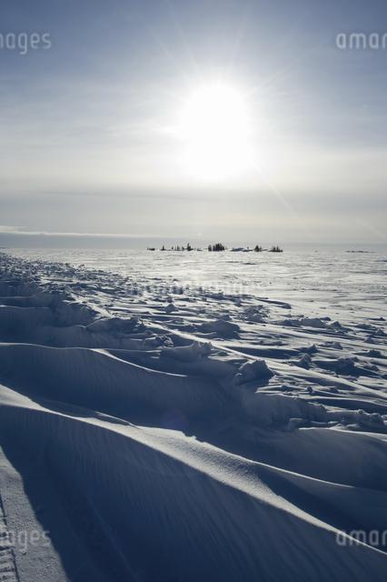 グレートスレイブ湖の雪原の写真素材 [FYI04273533]