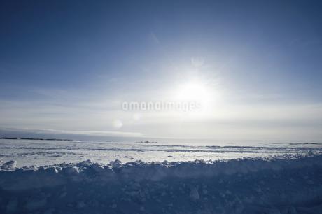 グレートスレイブ湖の雪原の写真素材 [FYI04273549]