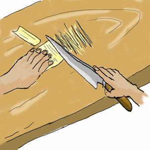 深川丼を作る-3  完成したら白髪葱をのイラスト素材 [FYI04273828]