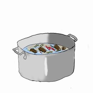 クッパを作る  材料を煮るのイラスト素材 [FYI04273831]