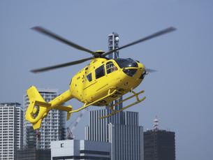 ジェットヘリと神戸市街の写真素材 [FYI04274113]