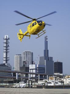 ジェットヘリと神戸市街の写真素材 [FYI04274116]