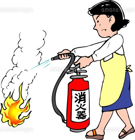 消火訓練のイラスト素材 [FYI04274662]