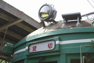 貸し切りの路面電車の写真素材 [FYI04276207]