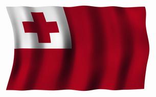 トンガ王国の国旗の写真素材 [FYI04276721]