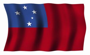 サモアの国旗の写真素材 [FYI04276727]