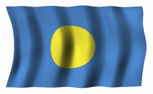 パラオの国旗の写真素材 [FYI04276728]