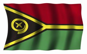バヌアツの国旗の写真素材 [FYI04276733]