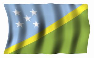 ソロモン諸島の国旗の写真素材 [FYI04276737]