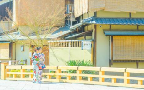 京都祇園の町並みイメージの写真素材 [FYI04276902]