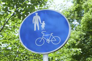 道路標識「自転車及び歩行者専用」の写真素材 [FYI04276965]
