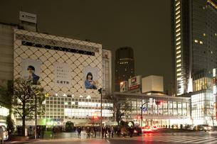 節電でネオンが消えた渋谷の写真素材 [FYI04280849]