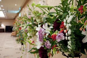 祝賀会場のスタンド花の写真素材 [FYI04280905]