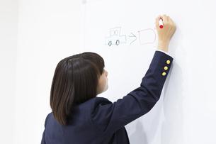 絵しりとりをする中学生の写真素材 [FYI04282735]