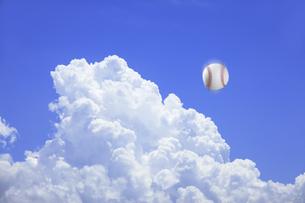 野球ボールの写真素材 [FYI04283009]