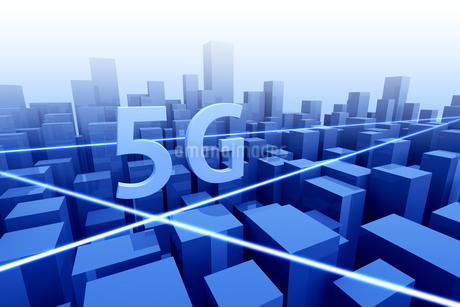 5Gのテキストと通信イメージ 3DCGの写真素材 [FYI04283215]