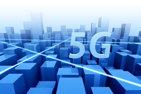 5Gのテキストと通信イメージ 3DCGの写真素材 [FYI04283216]
