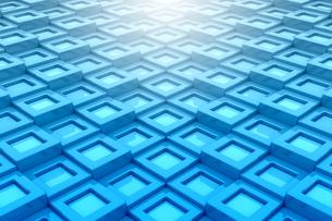 一面に並ぶ四角形と光 3DCGの写真素材 [FYI04283223]