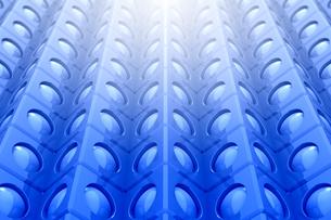 立方体と円形の模様と光 3DCGの写真素材 [FYI04283232]