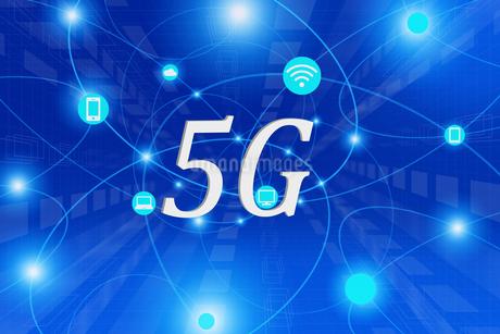 5Gのテキストと通信イメージ CGの写真素材 [FYI04283272]