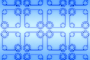 円形と四角形の模様 CGの写真素材 [FYI04283317]