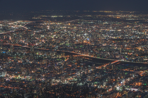 札幌藻岩山からの夜景の写真素材 [FYI04283412]